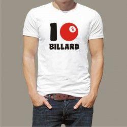 Koszulka męska - I love Billard