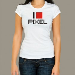 Koszulka damska - I love pixel