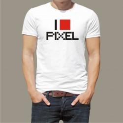 Koszulka męska - I love pixel