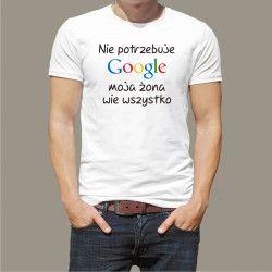 Koszulka - Nie potrzebuję Google