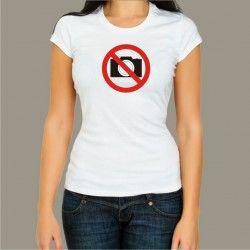 Koszulka damska - Zakaz fotografowania