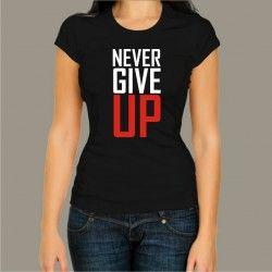 Koszulka - Never give up
