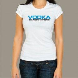 Koszulka damska - Vodka connecting people