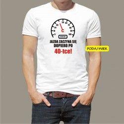 Koszulka męska - Jazda zaczyna się po...