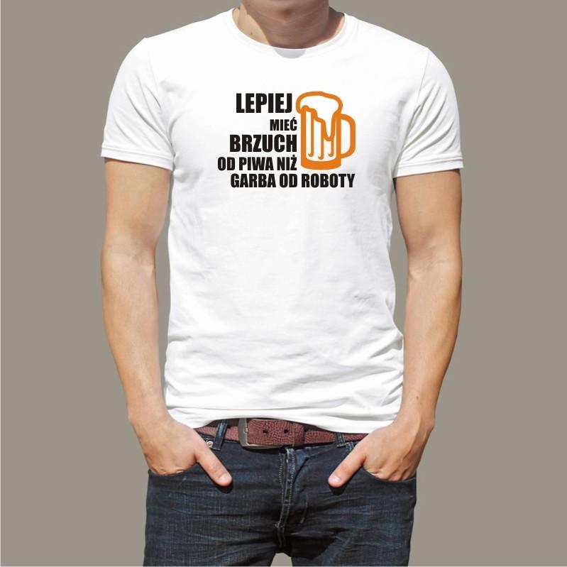 Koszulka Lepiej mieć brzuch od piwa ImperiumKoszulek