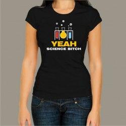 Koszulka Męska - Yeah Science Bitch