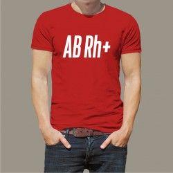 Koszulka Męska - Grupa Krwi AB Rh+